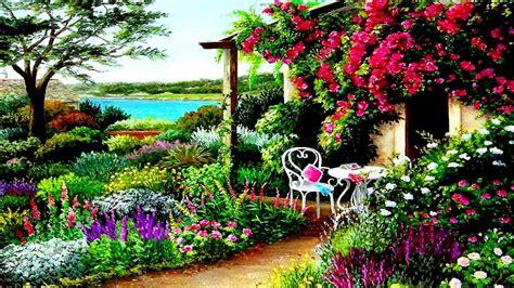 Spring Garden Background