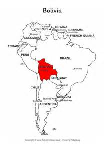 bolivia on map of south america