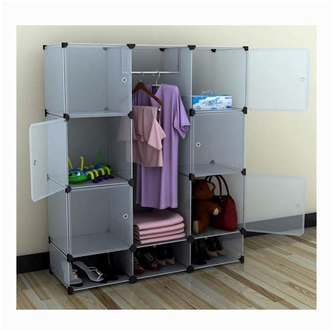 Us Stock Portable Extra Wide Modular Storage Clothes