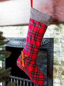 do it yourself christmas stockings hgtv With fabric letters for stockings