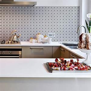Stickers Carreaux De Ciment Cuisine : 60 stickers carreaux de ciment azulejos elisa cuisine ~ Melissatoandfro.com Idées de Décoration