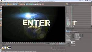 Universal Intro Cinema 4d Template Tutorial Hd  By