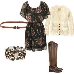 Cute Fall Dresses with Boots