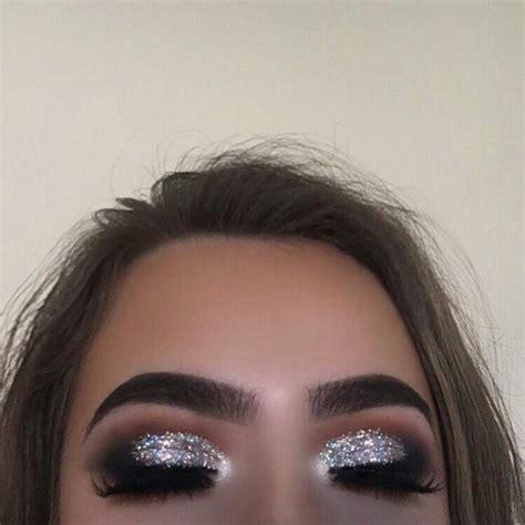 glitter eye prom eye makeup black eye makeup silver eye makeup