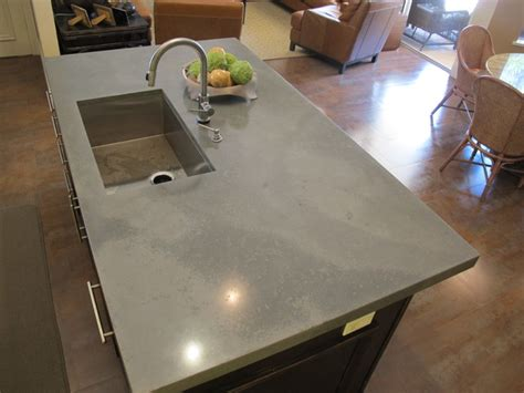 Concrete Kitchen Island-faux Raw Look