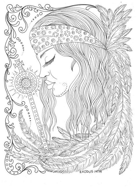 New Coloring Book Guardian Angels Christian Scripture Healing Art | Adult coloring pages | Angel