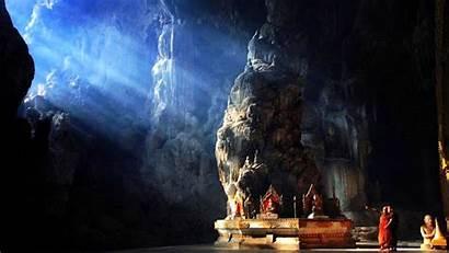 Meditation Cave Buddhist Buddha Temple Myanmar Inside