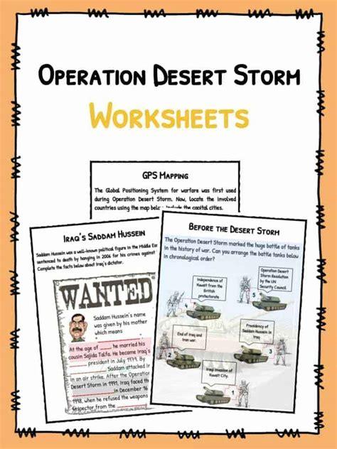 operation desert storm facts worksheets  kids