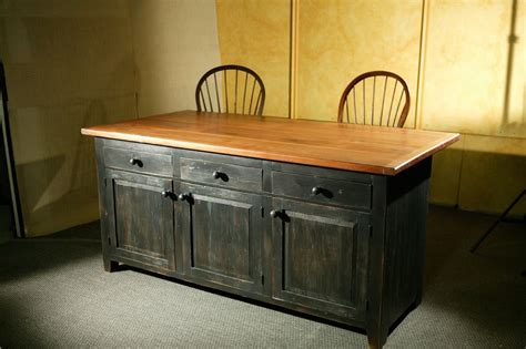 wooden kitchen islands crafted rustic barn wood kitchen island by