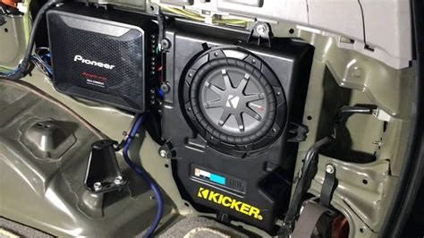 toyota runner  channel amp   install