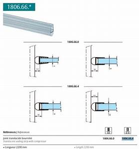 joint bourrelet pour verre 8mm ref 1806664 etancheite With joint porte douche coulissante