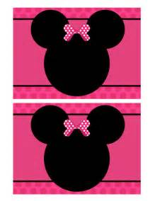 Minnie Mouse Blank Invitation Template