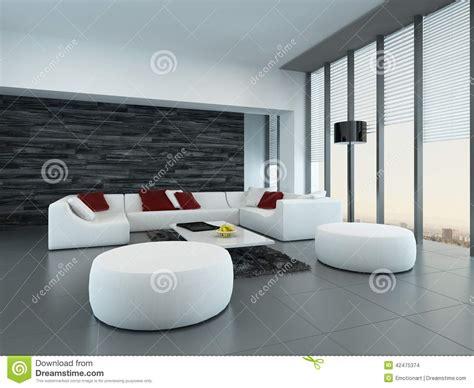 int 233 rieur d un salon gris et blanc moderne illustration stock image 42475374