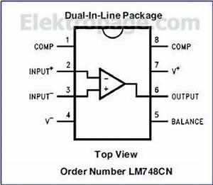 lm748 ic pinout diagram integrated circuits elektropagecom With ic 7490 pin diagram