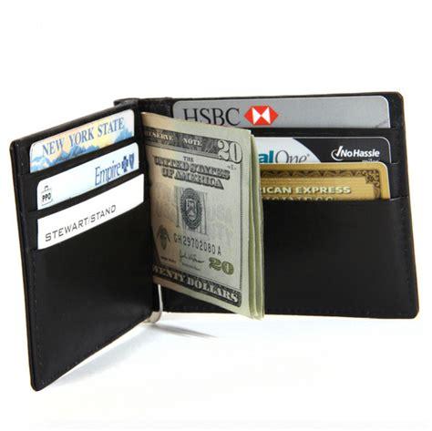 stainless steel money clip  bi fold wallet mcw