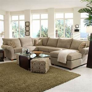 Spacious sectional with chaise lounge by klaussner wolf for Sectional sofas gardiners