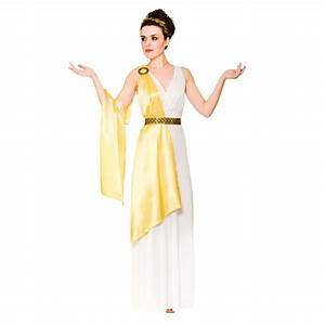 Ladies Gold Greek Goddess Aphrodite Athena Halloween Fancy ...