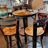 high table and chairs Effigy of High Top Table Sets | Wine Barrel Ideas | Pub ...