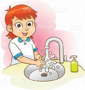 Girl Washing Her Hands Stock Vector Art & More Images of ...