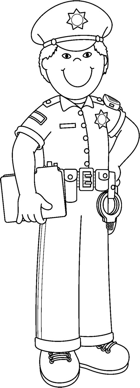 cop clipart black and white policeman black and white pictures to pin on