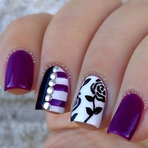 purple nail designs 30 trendy purple nail designs you to see hative