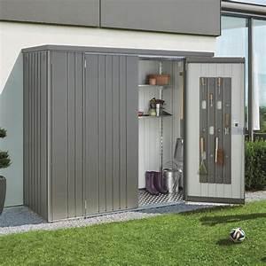 Armoire De Terrasse : armoire de jardin m tal l227 h182 5 cm biohort gris 227 x 83 x 182 5 cm gamm vert ~ Farleysfitness.com Idées de Décoration