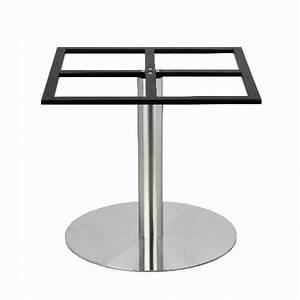 Plateau Rond Pour Table : pied de table en inox bross pour plateau rond de grande dimension pch 18 72 one mobilier ~ Teatrodelosmanantiales.com Idées de Décoration