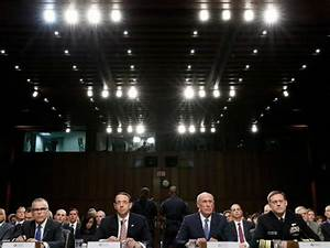 Intelligence Leaders Testify Donald Trump Never Pressured ...