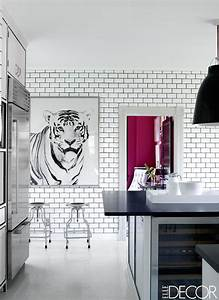20 black and white kitchen design decor ideas for Kitchen cabinet trends 2018 combined with wall art framed prints