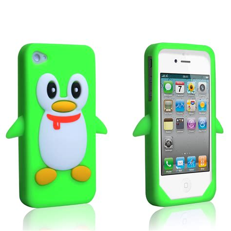 iphone 4s accessories yousave accessories iphone 4 4s penguin gel green
