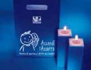 Candele Solidali telefono azzurro accendi l azzurro con le candele