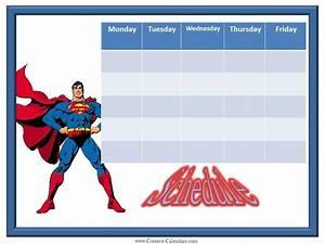 Printable Week Calender Weekly Planner For Boys