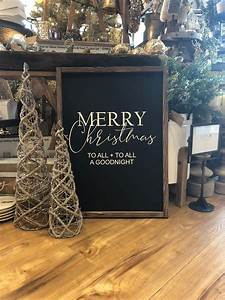 Merry, Christmas, Wood, Sign, The, Night, Before, Christmas, Sign