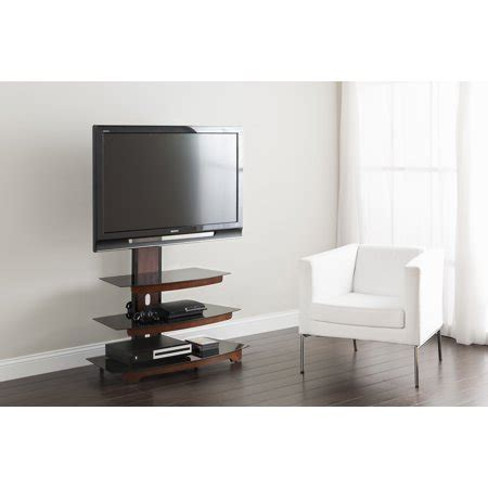 whalen  tier cherry brown flat panel tv stand  tvs