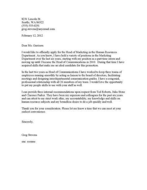 thank you letter cover letter promotion application cover letter 7904
