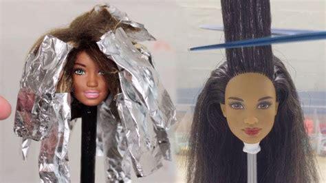 barbie hair barbie hairstyle tutorial barbie hair color