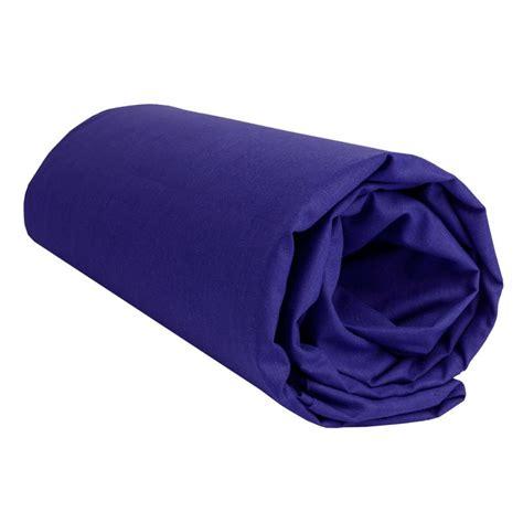 drap housse bleu marine uni