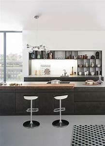 Schwarze Hochglanz Küche : 29 best betonk che k chen aus beton images on pinterest k chen modern dunkle k chen und ~ Sanjose-hotels-ca.com Haus und Dekorationen