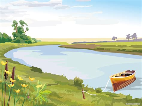 vector scenery images cute cartoon landscape vector