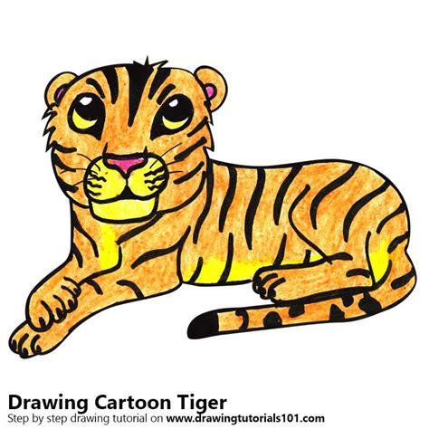 learn   draw  cartoon tiger cartoon animals step