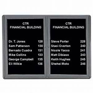wall mounting enclosed changeable letterboard With display board with changeable letters