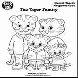 Tiger Coloring Daniel Neighborhood Pages Printable Cartoon Drawing Getcolorings Trolley Crafts Friends Getdrawings Pbs Inspirational sketch template