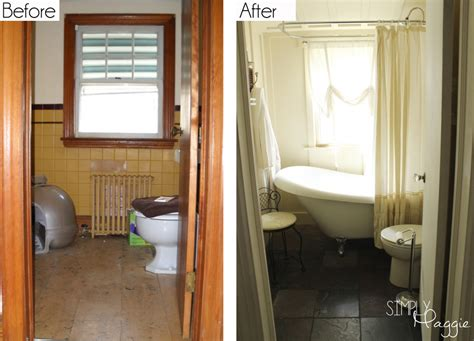 renovations before and after cottage bathroom renovation before and after simplymaggie com