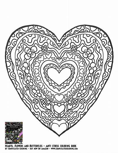 Coloring Heart Printable Pages Butterfly Adults Butterflies
