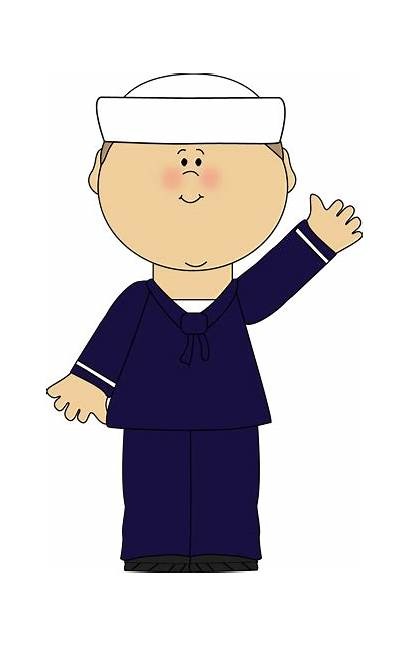 Sailor Clipart Clip Waving Navy Sailors Boy