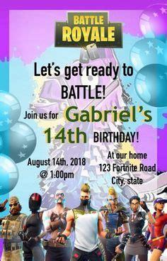 fortnite party invitation birthday party fortnite battle