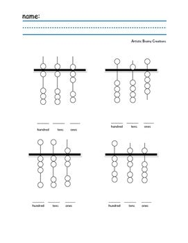 abacus practice worksheet by artistic brainy creations tpt