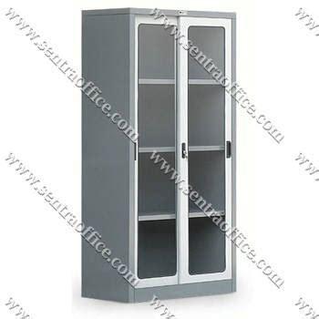 jual lemari arsip pintu sliding kaca type sdg 206 murah