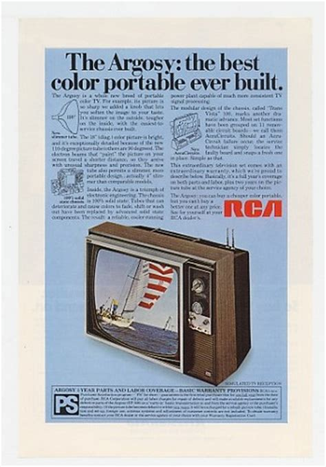 adspastcom  rca argosy  color portable tv