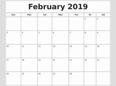 April 2019 Calendar Template